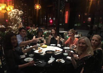 Middag på klassisk kinesisk fin restaurang