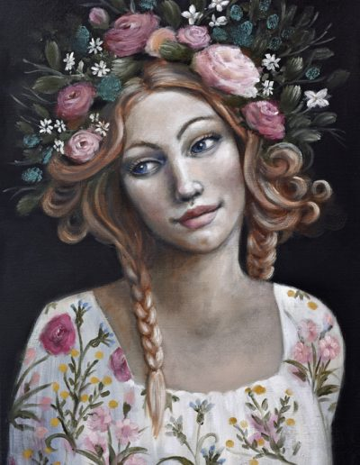 Venus after Flora 50x70cm - inspiration from Sandro Botticello