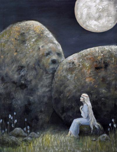 Trygghet i mörkret 70*90cm - inspiration, John Bauer